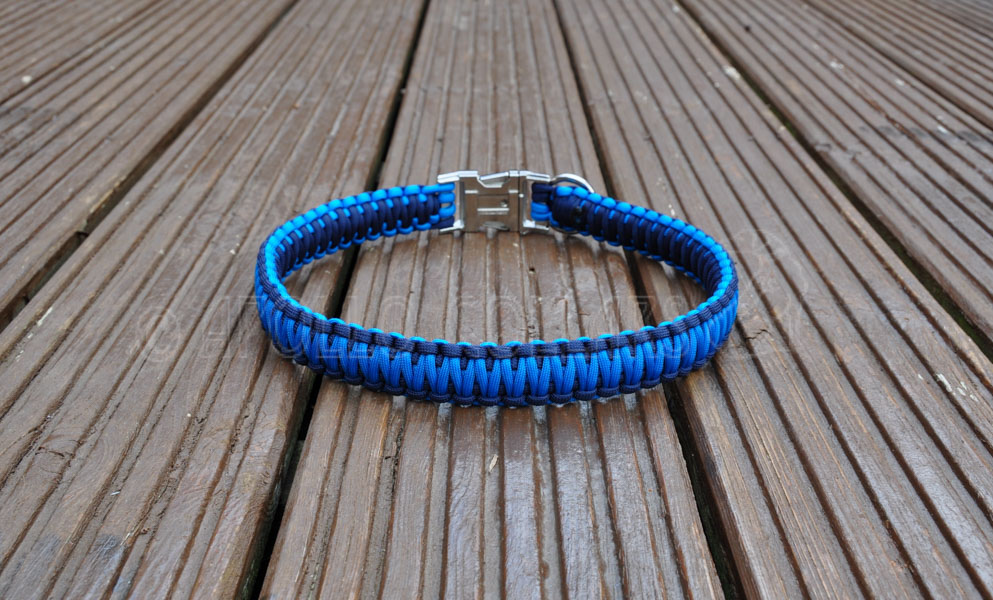 how to make a paracord dog collar with metal buckle